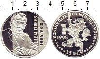 Изображение Монеты Европа Нидерланды 25 экю 1998 Серебро Proof-