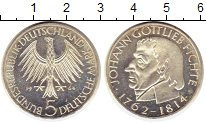 Изображение Монеты Германия ФРГ 5 марок 1964 Серебро UNC-