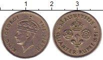 Изображение Монеты Африка Маврикий 1/4 рупии 1951 Медно-никель XF