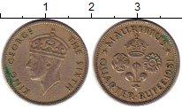 Изображение Монеты Маврикий 1/4 рупии 1951 Медно-никель XF- Георг VI