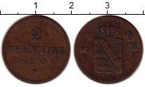 Изображение Монеты Германия Саксония 2 пфеннига 1859 Медь XF-