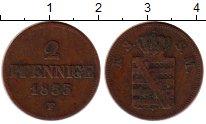 Изображение Монеты Саксония 2 пфеннига 1855 Медь XF-
