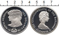 Изображение Монеты Багамские острова 10 долларов 1981 Серебро Proof