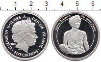 Изображение Монеты Великобритания Теркc и Кайкос 5 крон 2001 Серебро Proof