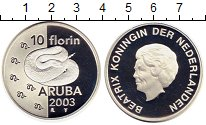 Изображение Монеты Аруба 10 флоринов 2003 Серебро Proof