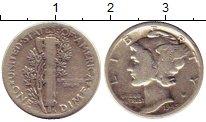 Изображение Монеты Северная Америка США 1 дайм 1943 Серебро VF+