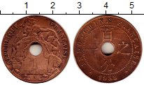 Изображение Монеты Индокитай 1 цент 1938 Бронза XF