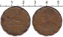Изображение Монеты Эфиопия 25 центов 1944 Бронза XF-