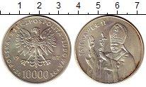 Изображение Монеты Польша 10000 злотых 1987 Серебро UNC-