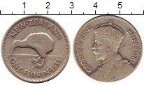 Изображение Монеты Австралия и Океания Новая Зеландия 1 флорин 1933 Серебро XF