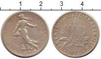 Изображение Монеты Европа Франция 1 франк 1916 Серебро VF