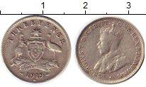 Изображение Монеты Австралия 3 пенса 1919 Серебро XF