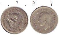 Изображение Монеты Африка ЮАР 3 пенса 1940 Серебро VF