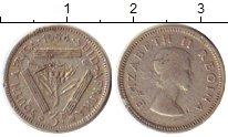 Изображение Монеты ЮАР 3 пенса 1954 Серебро VF Елизавета II