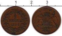 Изображение Монеты Германия Баден 1/2 крейцера 1866 Медь XF-