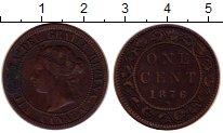 Изображение Монеты Северная Америка Канада 1 цент 1876 Медь XF-