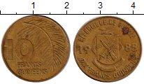 Изображение Монеты Африка Гвинея 10 франков 1985 Латунь XF