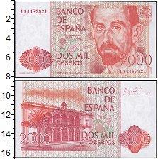 Изображение Банкноты Европа Испания 2000 песет 1980  UNC-