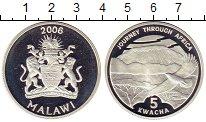 Изображение Монеты Малави 5 квач 2006 Серебро Proof- Путешествие через Аф