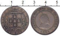 Изображение Монеты Ямайка 1/2 пенни 1907 Медно-никель VF
