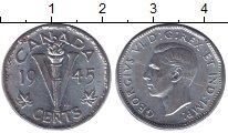 Изображение Монеты Северная Америка Канада 5 центов 1945 Хром XF+