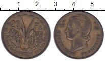 Изображение Монеты Французская Африка 25 франков 1956 Латунь XF-