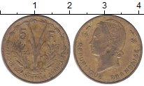 Изображение Монеты Французская Африка 5 франков 1956 Латунь XF