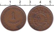Изображение Монеты Мозамбик 1 эскудо 1953 Бронза XF