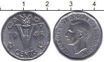 Изображение Монеты Канада 5 центов 1945 Хром XF