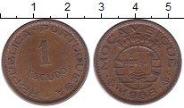 Изображение Монеты Африка Мозамбик 1 эскудо 1968 Бронза XF
