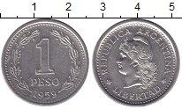 Изображение Монеты Южная Америка Аргентина 1 песо 1959 Медно-никель XF