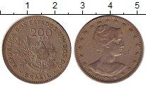 Изображение Монеты Южная Америка Бразилия 200 рейс 1901 Медно-никель XF