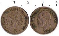 Изображение Монеты Гаити 5 сентим 1905 Медно-никель XF-
