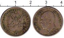 Изображение Монеты Северная Америка Гаити 5 сентим 1904 Медно-никель XF-