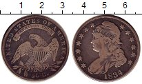 Изображение Монеты Северная Америка США 50 центов 1834 Серебро XF-