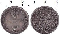Изображение Монеты Индия 1/4 доллара 1822 Серебро VF Георг IV