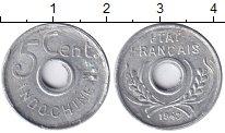 Изображение Монеты Индокитай 5 центов 1943 Алюминий XF+