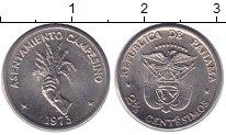 Изображение Монеты Панама 2 1/2 сентесимо 1975 Медно-никель UNC- рука с пучком колось