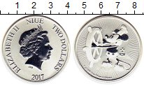Изображение Монеты Новая Зеландия Ниуэ 2 доллара 2017 Серебро UNC