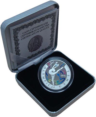 Изображение Подарочные монеты Казахстан 100 тенге 2016 Серебро Proof