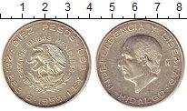 Изображение Монеты Мексика 10 песо 1955 Серебро XF