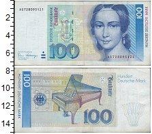 Изображение Банкноты ФРГ 100 марок 1989  XF