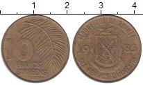 Изображение Монеты Гвинея 10 франков 1985 Латунь XF