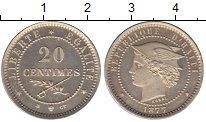 Изображение Монеты Гаити 20 сантим 1877 Медно-никель UNC
