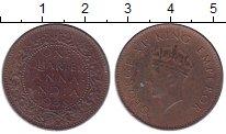 Изображение Монеты Британская Индия 1/4 анны 1938 Бронза XF