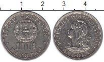 Изображение Монеты Африка Ангола 4 макутас 1927 Медно-никель XF