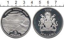 Изображение Монеты Малави 5 квач 2006 Серебро Proof Орел