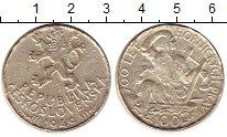 Изображение Монеты Чехословакия 100 крон 1949 Серебро VF