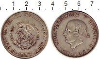 Изображение Монеты Северная Америка Мексика 5 песо 1957 Серебро XF-