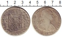 Изображение Монеты Боливия 8 риалов 1808 Серебро VF